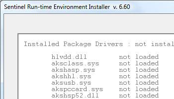 Проверка корректности установки драйвера Sentinel HASP