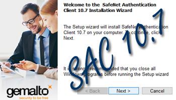 Установка SafeNet Authentication Client 10.7 в Windows 10